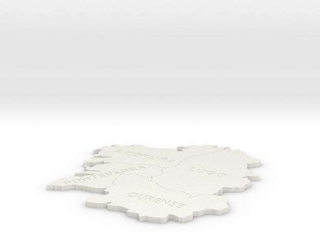 I3D GALICIA: A Coruña, Lugo,Ourense and Pontevedra in White Natural Versatile Plastic