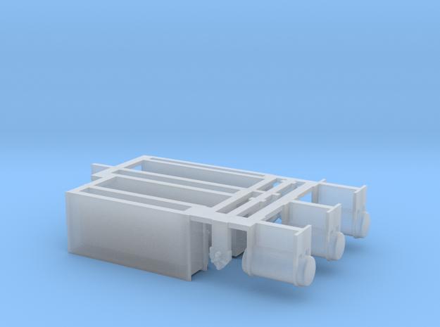 Batteriekasten Heizwagen DR DB DRG TT 1:120 in Smooth Fine Detail Plastic