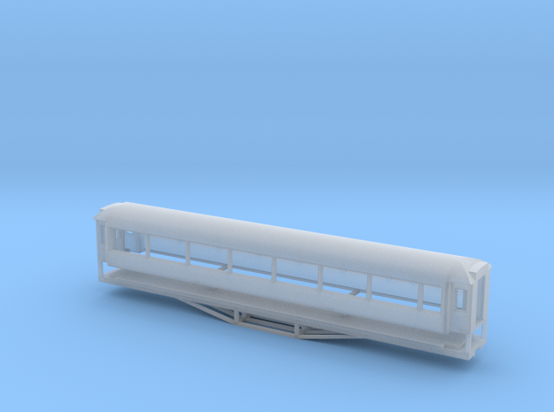 AO Carriage, New Zealand, (HO Scale, 1:87) in Smooth Fine Detail Plastic