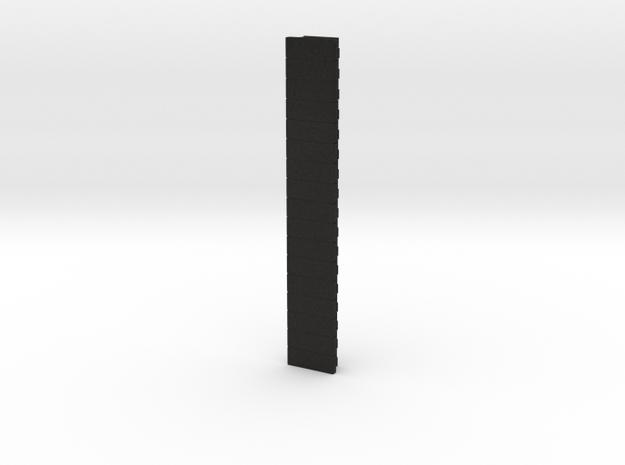 Picatinny Rail 17 Rails in Black Acrylic