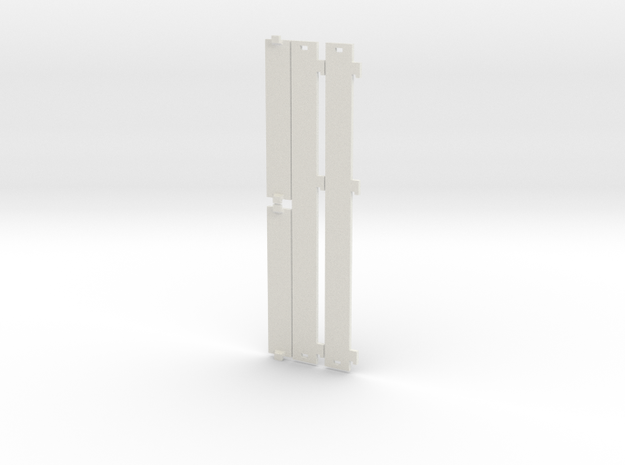 Trailer Side Panels - Britains 1/32 in White Natural Versatile Plastic