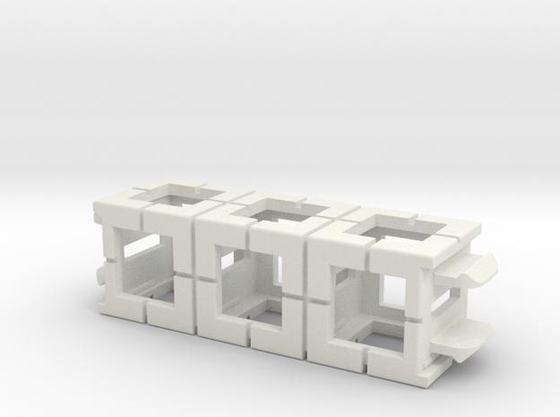 Rokenbok 3-block Beam in White Natural Versatile Plastic