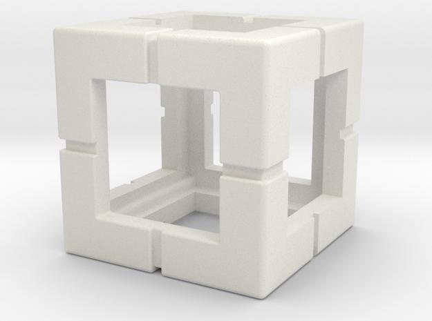Rokenbok Single Block in White Natural Versatile Plastic