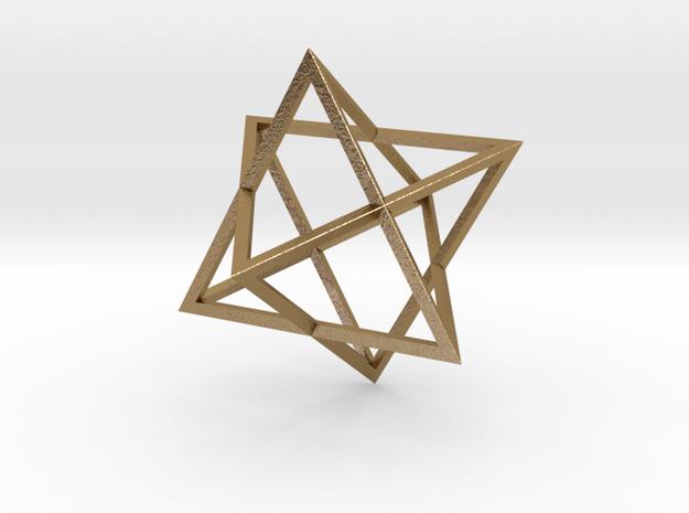 Merkaba Wire - 4cm in Polished Gold Steel