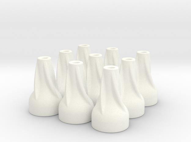 9X Spiral Finned Blowgun Dart Cones 3d printed