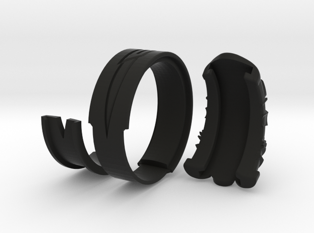 Vambrace Ring 9 in Black Natural Versatile Plastic