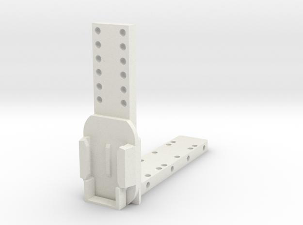 SeatWedgeReceiver in White Natural Versatile Plastic