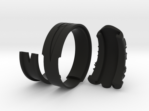 Vambrace Ring 10 in Black Natural Versatile Plastic