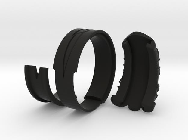 Vambrace Ring 10 in Black Natural Versatile Plastic