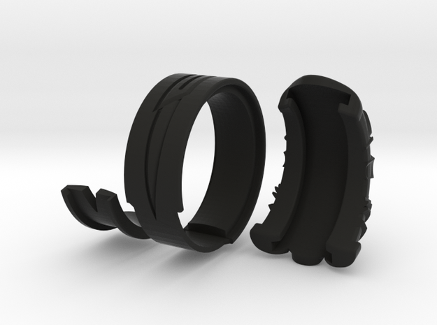 Vambrace Ring 6.5 in Black Natural Versatile Plastic