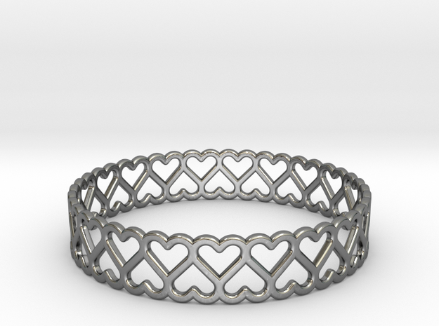 The Bracelet of Hearts 3d printed