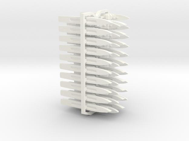 60OT02 1:6000 Generic Warships X40 in White Processed Versatile Plastic