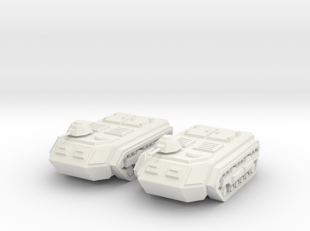 15mm Sphinx APC (x2) in White Natural Versatile Plastic