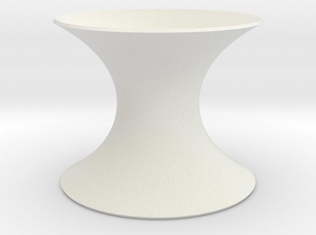 Catenoid Minimal Surface in White Natural Versatile Plastic