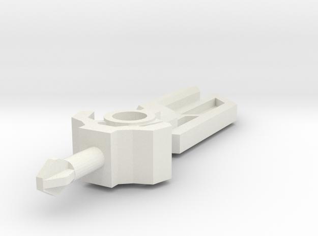 Stellar Blade 3mm hilt, 5cm Pegport in White Natural Versatile Plastic