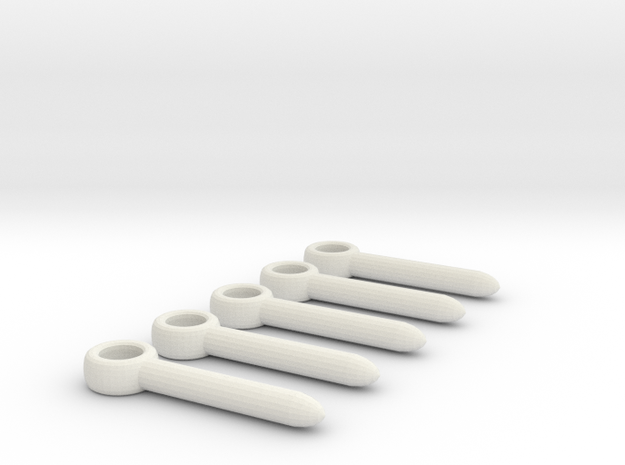 Emag Power Pin - 5 pack in White Natural Versatile Plastic
