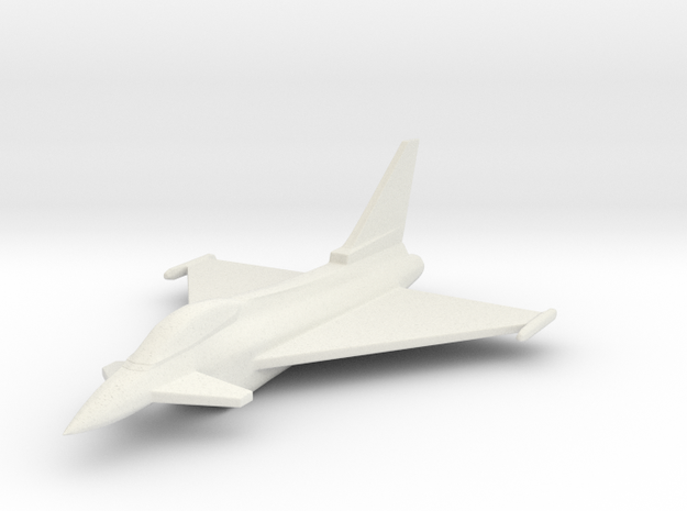 1/285 Scale (6mm) Eurofighter Typhoon  in White Natural Versatile Plastic