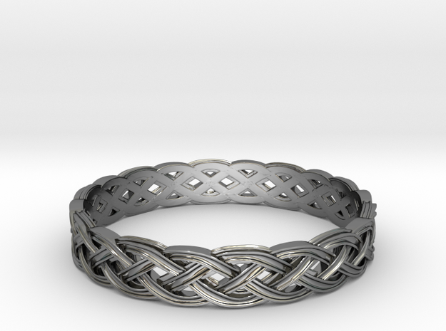 Hieno Delicate Celtic Knot Size 12 in Fine Detail Polished Silver