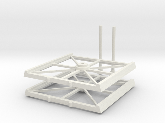 2x Bases cheap 8x8 in White Natural Versatile Plastic