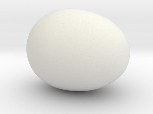 Egg7 Fullegg in White Natural Versatile Plastic