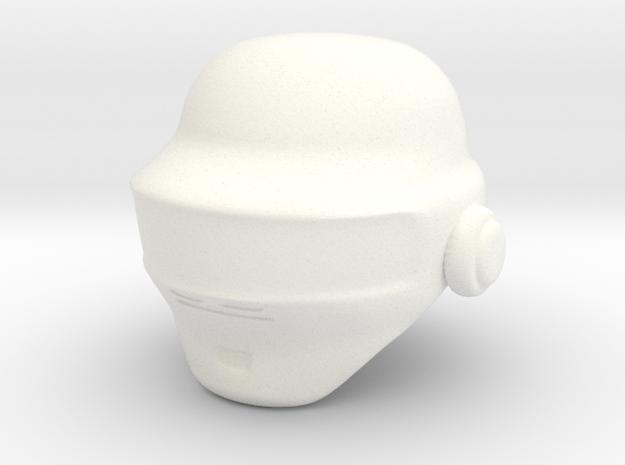 Punk Helmet (prototype) in White Processed Versatile Plastic