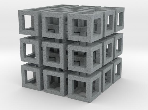Cubo in Polished Metallic Plastic