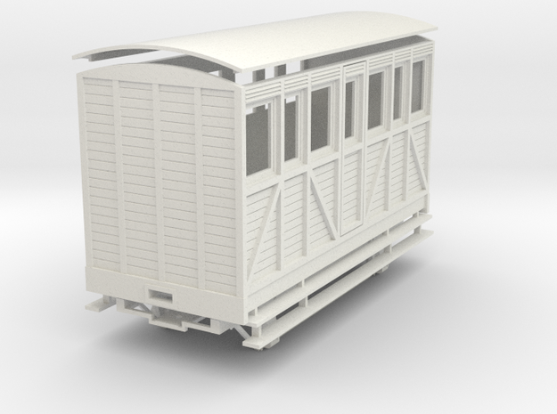 "On16.5 saloon ""woody"" coach 3d printed"