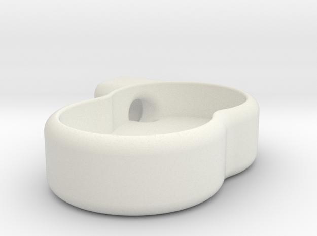 Caliper Half in White Natural Versatile Plastic