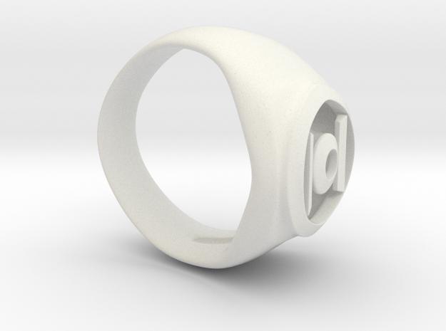 Green Lanturn Ring in White Natural Versatile Plastic