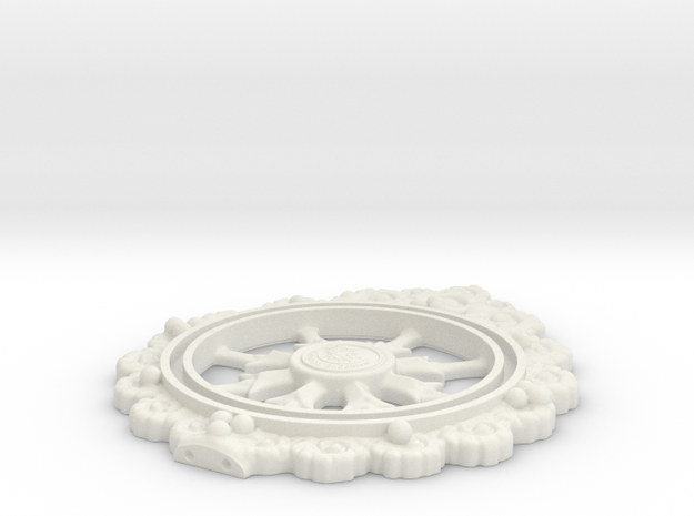 Wheeltop in White Natural Versatile Plastic