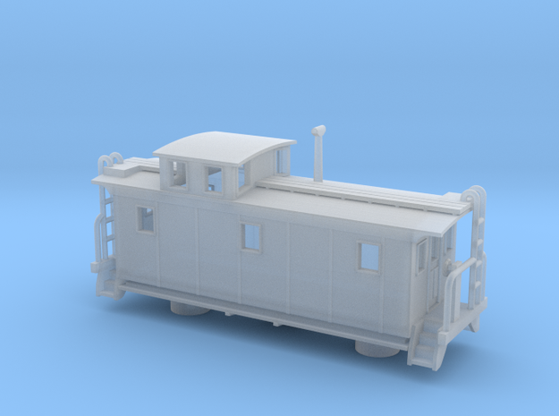 DMIR K1 Steelside Early Caboose - Zscale in Smooth Fine Detail Plastic