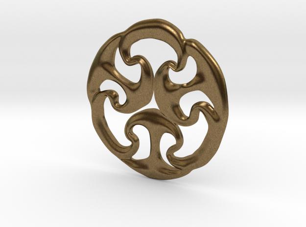 Ancient triskele in Raw Bronze