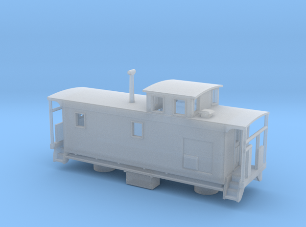 DMIR K1 Steelside Caboose Late - Nscale in Smooth Fine Detail Plastic