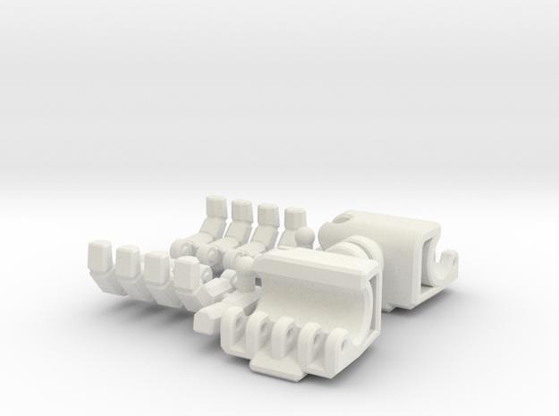 FOC Soundwave Hands 3d printed