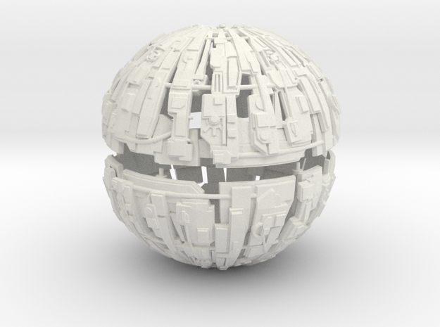 600m Cyborg Sphere 1/9000 Scale in White Natural Versatile Plastic