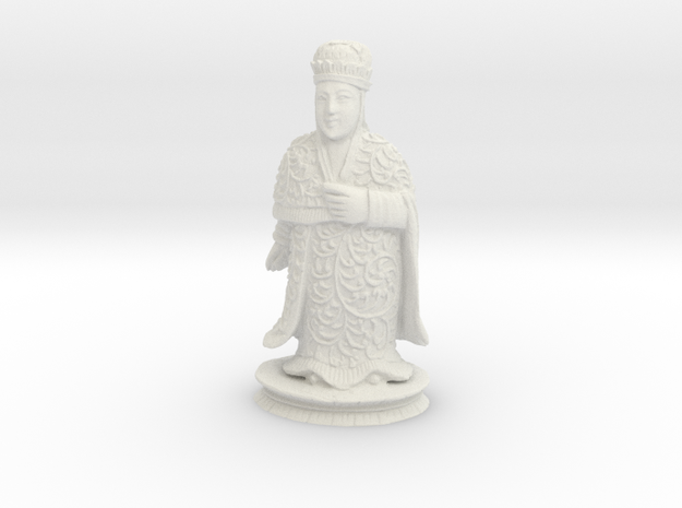 Traditional Cantonese Bishop Statuette 118mm in White Natural Versatile Plastic