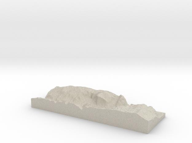 Model of Yosemite Village 3d printed