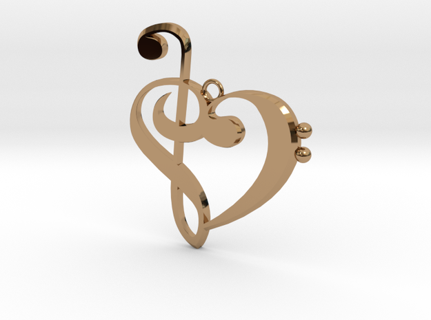 G-clef trebble clef pendant 3d printed