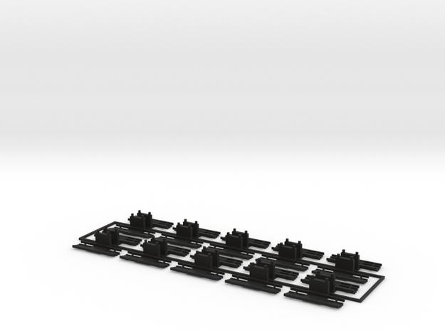Fangkörbe in Black Natural Versatile Plastic