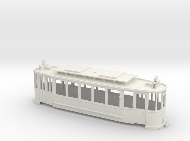 Fünffensterwagen Gehäuse in White Natural Versatile Plastic