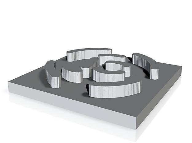 logo spiegel 3d printed