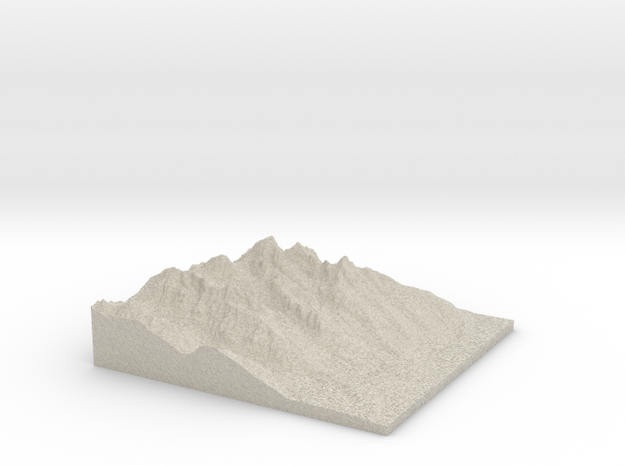 Model of Disappointment Peak 3d printed
