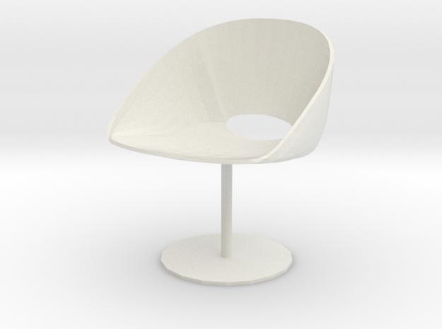"Davis Lipse Seating Pedestal base 3.7"" tall in White Natural Versatile Plastic"