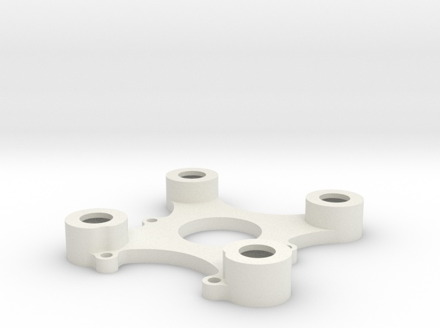 DJI Zenmuse H3-3D Mod (20mm nach vorne) Top Plate in White Natural Versatile Plastic
