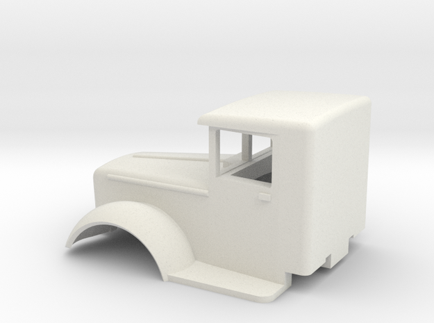 Mack-cab-1to72-07mm in White Strong & Flexible