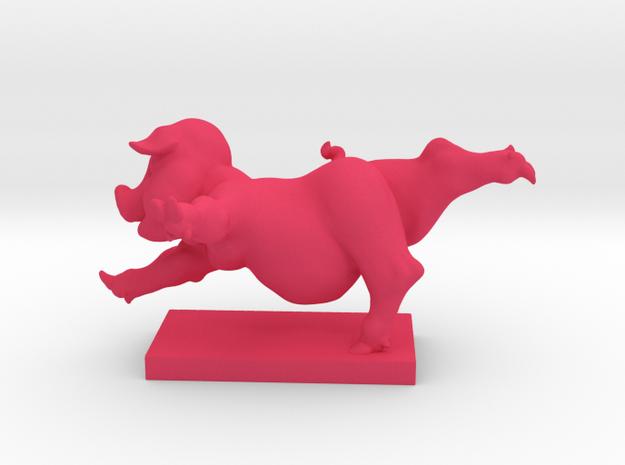 Pig Arabesque 50 mm in Pink Processed Versatile Plastic