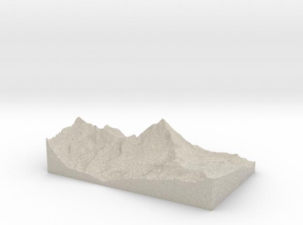 Model of Cervinia 3d printed