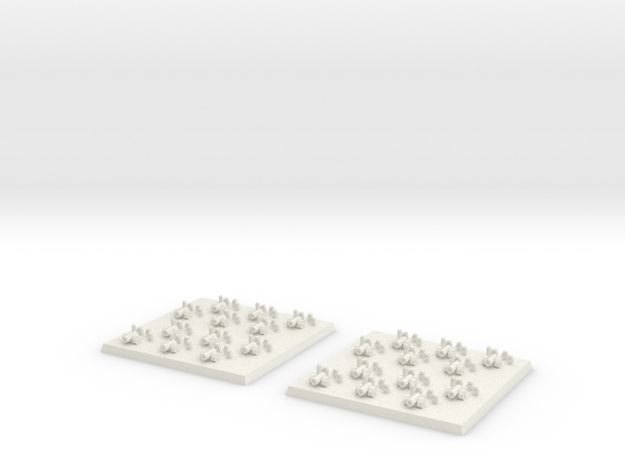 2mm DBA Artillery/Cannons 40x40mm in White Natural Versatile Plastic