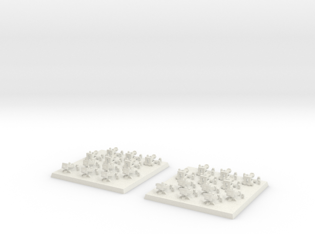 2mm DBA Artillery 40x40mm in White Natural Versatile Plastic