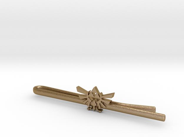 Legend of Zelda: Triforce Tie Clip 3d printed